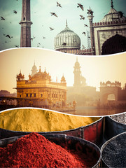 Collage of India images - travel background (my photos)