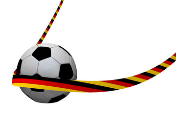 Football with Germany ribbon 3D Rendering