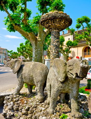 Poster Fontaine fontaine aux éléphants drôme 2