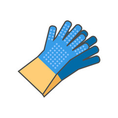 Household Gloves Line Icon