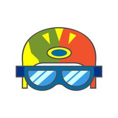 Skiers Helmet Line Icon