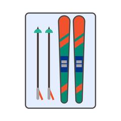 Skis Line Icon