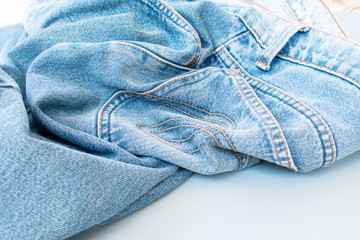 Removing old jeans no body