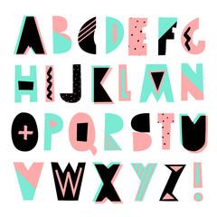 Geometric Style Font