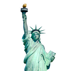 Printed kitchen splashbacks Historical buildings Statue of Liberty in New York isolated on white