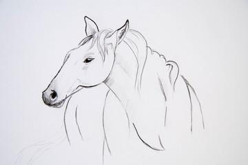 painting horse retro