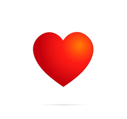 Red Vector Love Heart. Vector illustration EPS 10.
