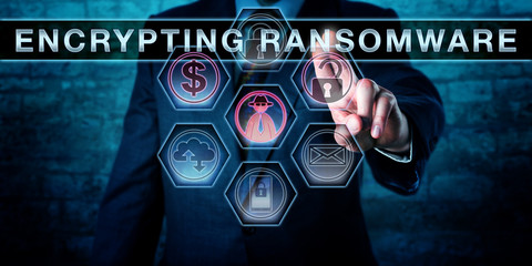 Malware Operator Touching ENCRYPTING RANSOMWARE