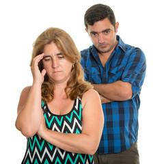Divorce, Conflicts in marriage - Sad hispanic couple