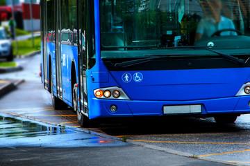 passenger bus blue