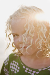 Curly blond girl