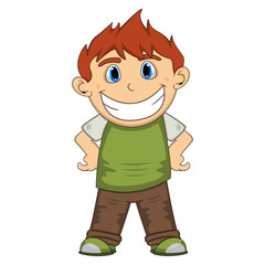 A smile boy cartoon