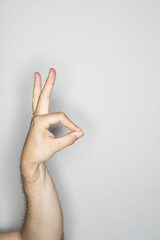 isolated hand gesture