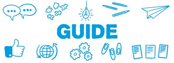 Stick Figure Series Banner Blue / Guide