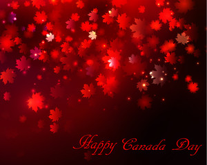 Happy Canada Day background