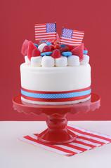 Happy Fourth of July celebration cake.