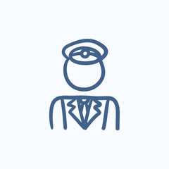 Conductor sketch icon.