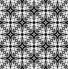 Ornament with elements of black and white colors. 10