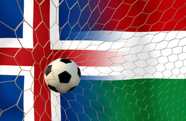 Soccer Euro 2016 ( Football )  Island and Hungary
