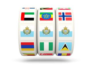 Slots with flag of san marino
