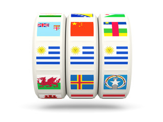 Slots with flag of uruguay