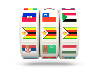 Slots with flag of zimbabwe