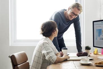 Business Discussion Conversation Suggestion Partnership Concept