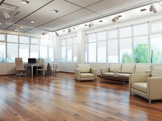 Офисное помещение 3d rendering