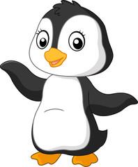 Cute funny penguin