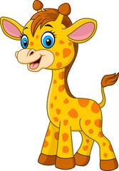 Cartoon baby giraffe