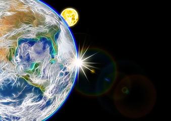 地球のグラフィックデザイン