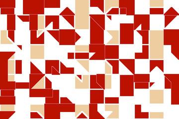 геометрический узор из разноцветных белых и черных квадратов и треугольников