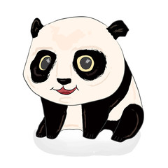 Cute panda illustration. Panda baby