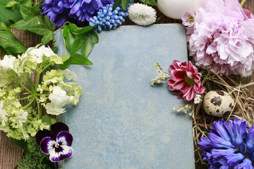 Floral background with spring flowers