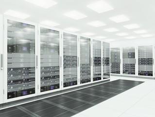Server room. 3d rendering