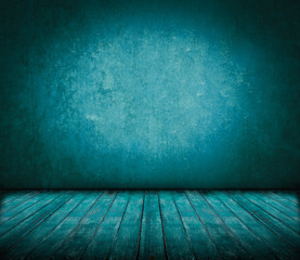 Abstract old dark grunge blue wooden background for insert your texts or products.