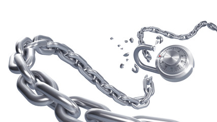 Broken iron chain