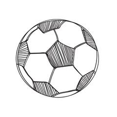 Hand draw football ball