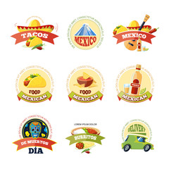 Mexican logo and badge design.
