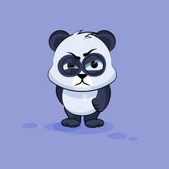 Illustration isolated Emoji character cartoon Panda sticker emoticon with angry emotion