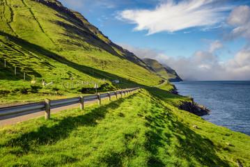 Wall Mural - Road through the island of Kalsoy, Faroe Islands
