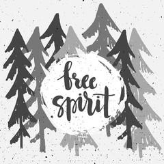 """""""Free Spirit"""" poster."""