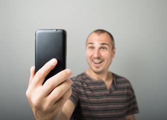 Man makes selfie