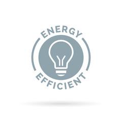 Energy efficient eco icon lightbulb symbol design. Vector illustration.