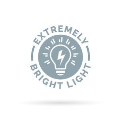 light bulb icon extremely bright and powerful torch symbol design. Vector illustration.