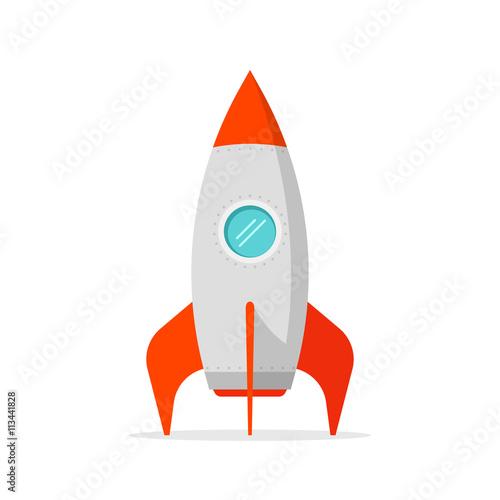 quotrocket ship vector illustration isolated on white flat