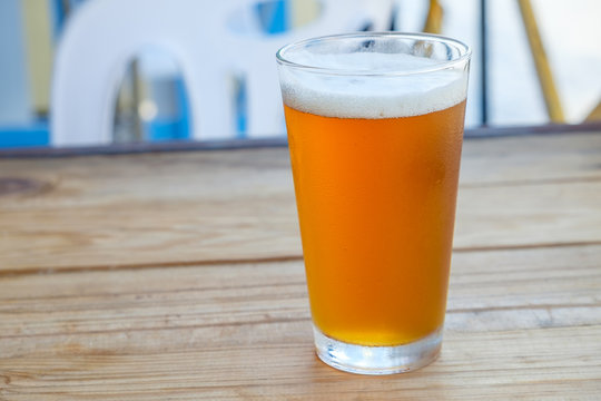 Craft beer in the glass