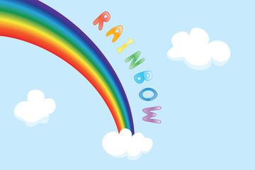 Vector cartoon rainbow