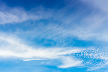 Clear blue sky with cloud.