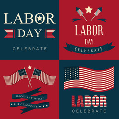Labor day icon and background